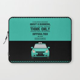 Lab No. 4 - Think About Difficulties Business Motivational Quotes Poster Laptop Sleeve