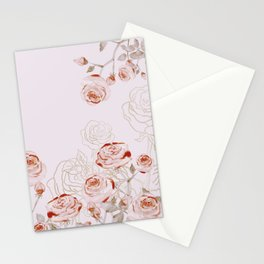 FRENCH PALE ROSES Stationery Cards