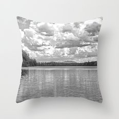 Between Lake and Sky Throw Pillow