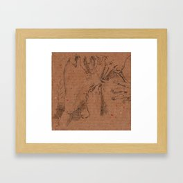 Evil Light or Hidden Lust III Framed Art Print