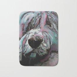 Tibetan Terrier Up Close And Personal Bath Mat