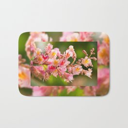 Aesculus red chestnut tree blossoms Bath Mat