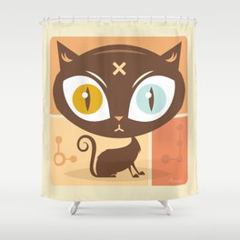 The cat did it... Shower Curtain