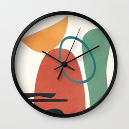 Minimal Abstract Shapes No.41 Wall Clock