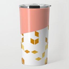 abstract cubes Travel Mug