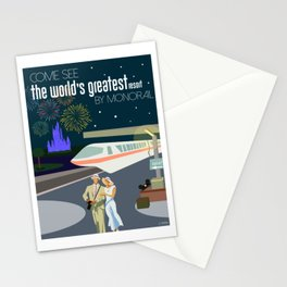 The World's Greatest Resort by monorail Stationery Cards
