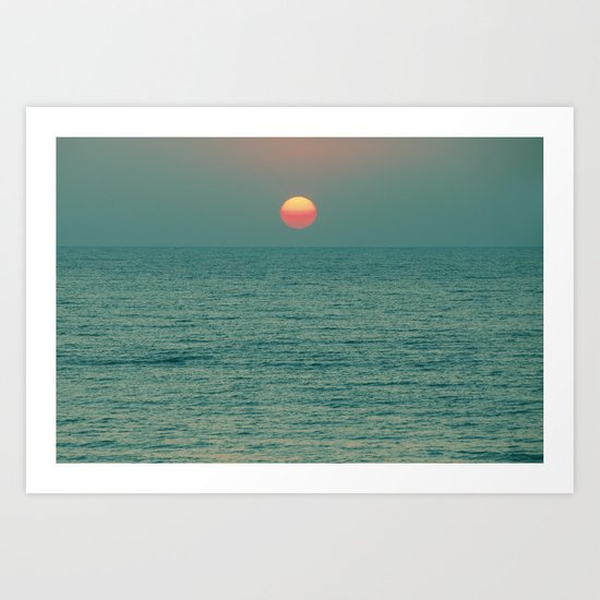 Sunset on the Green Planet Art Print