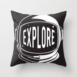 Astronaut Helmet: Explore  Throw Pillow