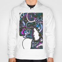 techno Hoodies featuring Purple Techno by Madison R. Leavelle