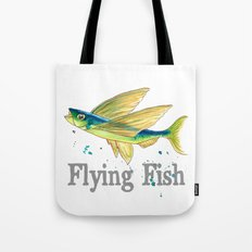 F is for Flying Fish Tote Bag