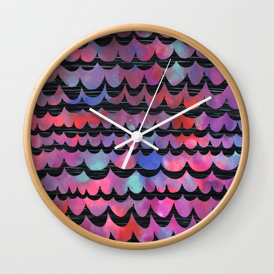 WAVES - Purple Wall Clock