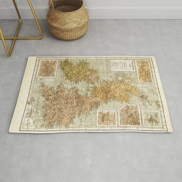 Vintage Map of Great Britain and Ireland, 1947 Rug
