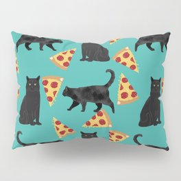 black cat pizza cat lover pet gifts cute cats Pillow Sham