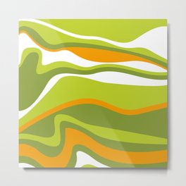 Pesto Orange and green Metal Print