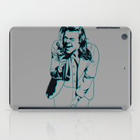 harry styles iPad Cases featuring Harry Styles  by Ashley McKinney