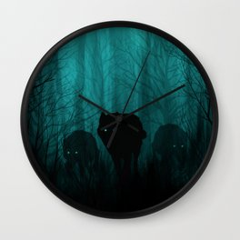 Wolf Pass Wall Clock