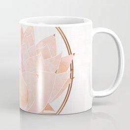 Blush Zen Lotus ~ Metallic Accents Coffee Mug
