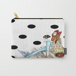 Dots & bow Carry-All Pouch