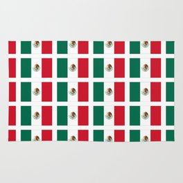 Flag of mexico 2- mexico,mexico city,mexicano,mexicana,latine,peso,spain,Guadalajara,Monterrey Rug