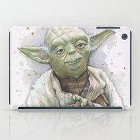 yoda iPad Cases featuring Yoda  by Olechka