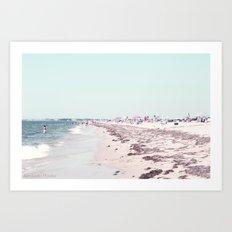 Dennis Beach Art Print