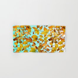 Autumn Leaves Azure Sky Hand & Bath Towel