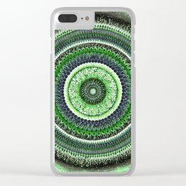 Living Forest Mandala Clear iPhone Case