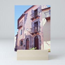 Pink town house   Sardinia   Film photography Mini Art Print