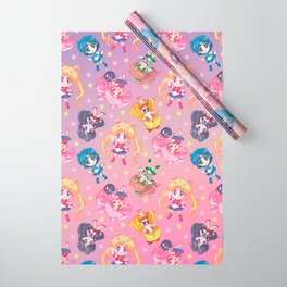 Chibis Crystal Pattern Wrapping Paper