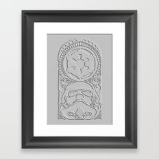 stormtrooper Polynesian tribal Framed Art Print