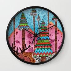 A Christmas Moment Wall Clock
