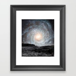 The Milky Way seen from a rogue planet. Framed Art Print