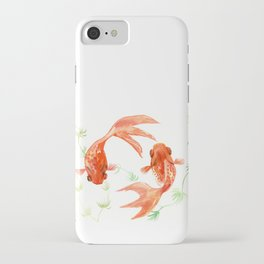 Koi Fish, Feng Shui, Goldfish art, Two fish, iPhone Case