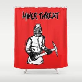 Miner Threat Shower Curtain