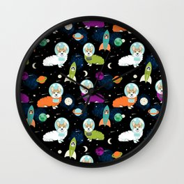 Welsh Corgi outer space cadet space camp rockets astronaut dog breed corgis gifts Wall Clock