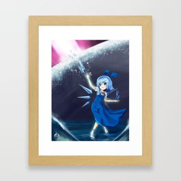 Don't mess with Cirno Framed Art Print