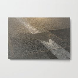 concrete sunshine triangle arrow Metal Print