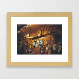 Black's Barbecue Framed Art Print