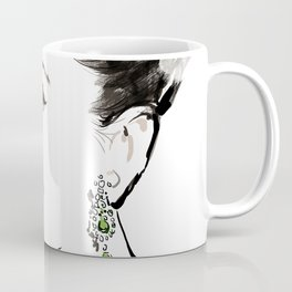 Classical Beauty, Fashion Painting, Fashion IIlustration, Vogue Portrait, Black and White, #13 Coffee Mug