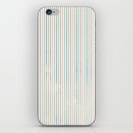 Colorful abstract pastel pink green watercolor stripes iPhone Skin