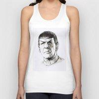 spock Tank Tops featuring Spock by Sara (aka Wisney)