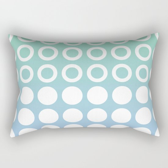 Mid Century Modern Circles And Dots Blue and Green by tonymagner