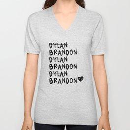 Brandon vs. Dylan: Beverly Hills 90210 Unisex V-Neck
