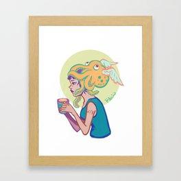 Less than divide three Framed Art Print