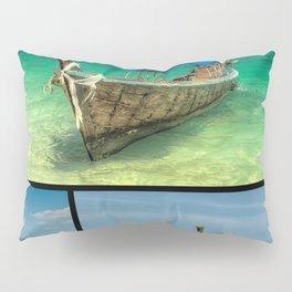 Wooden Thai Longboats Pillow Sham