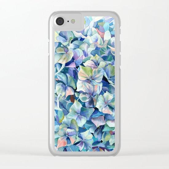 """Marine hydrangea"" Clear iPhone Case"