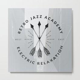 Retro + Vintage Electric Relaxation Metal Print