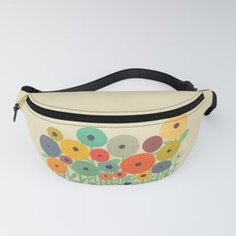 Cat in flower garden Fanny Pack