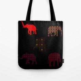 Five Elephants version1 Tote Bag