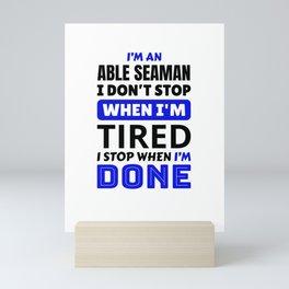 Able Seaman Mini Art Print